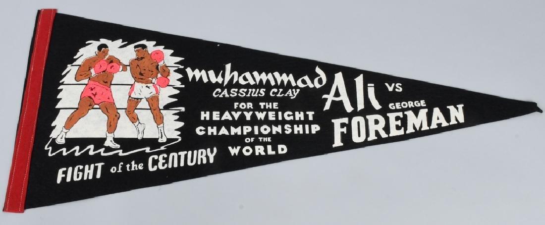 1974 MUHAMMAD ALI vs GEORGE FOREMAN PENNANT