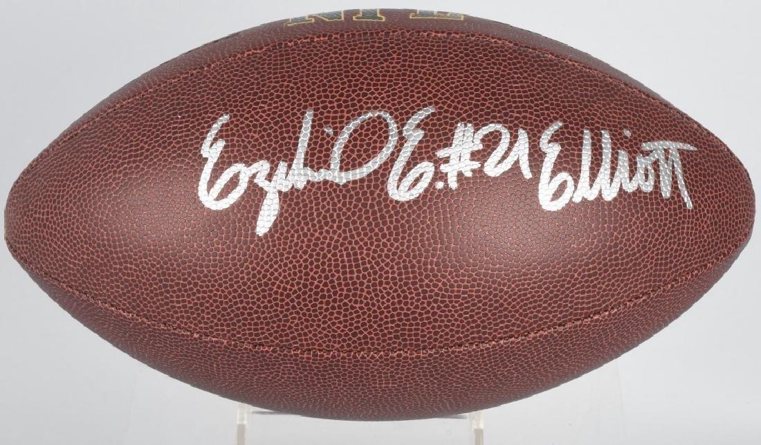 EZEKIEL ELLIOT AUTOGRAPHED NFL FOOTBALL COA