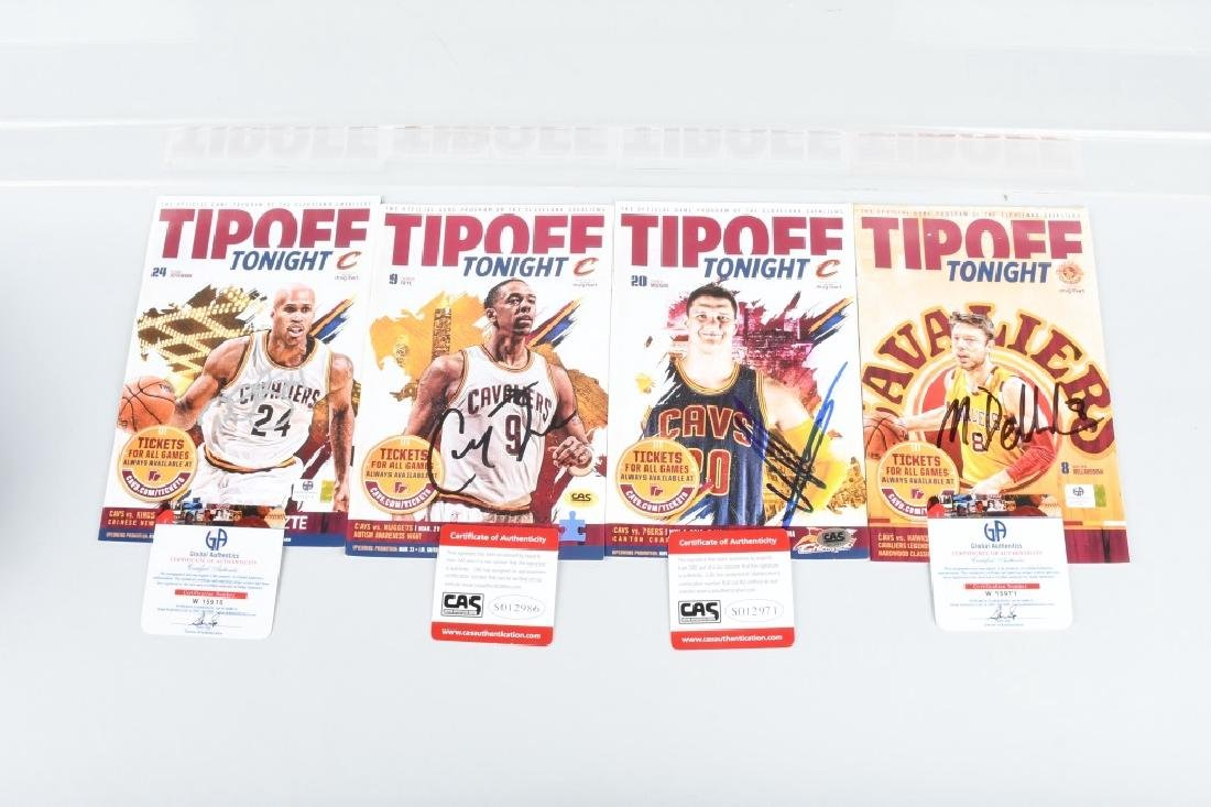 4 AUTOGRAPHED CLEVELAND CAVALIERS TIPOFF PROGRAMS