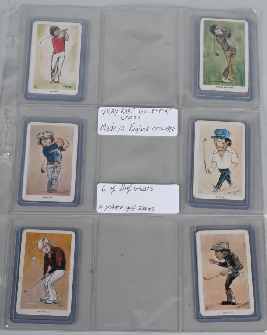 6- 1980 ENGLISH GOLF FINK CARDS