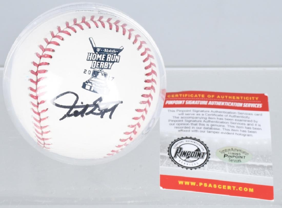 GIANCARLO STANTON AUTOGRAPHED HR DERBY BASEBALL
