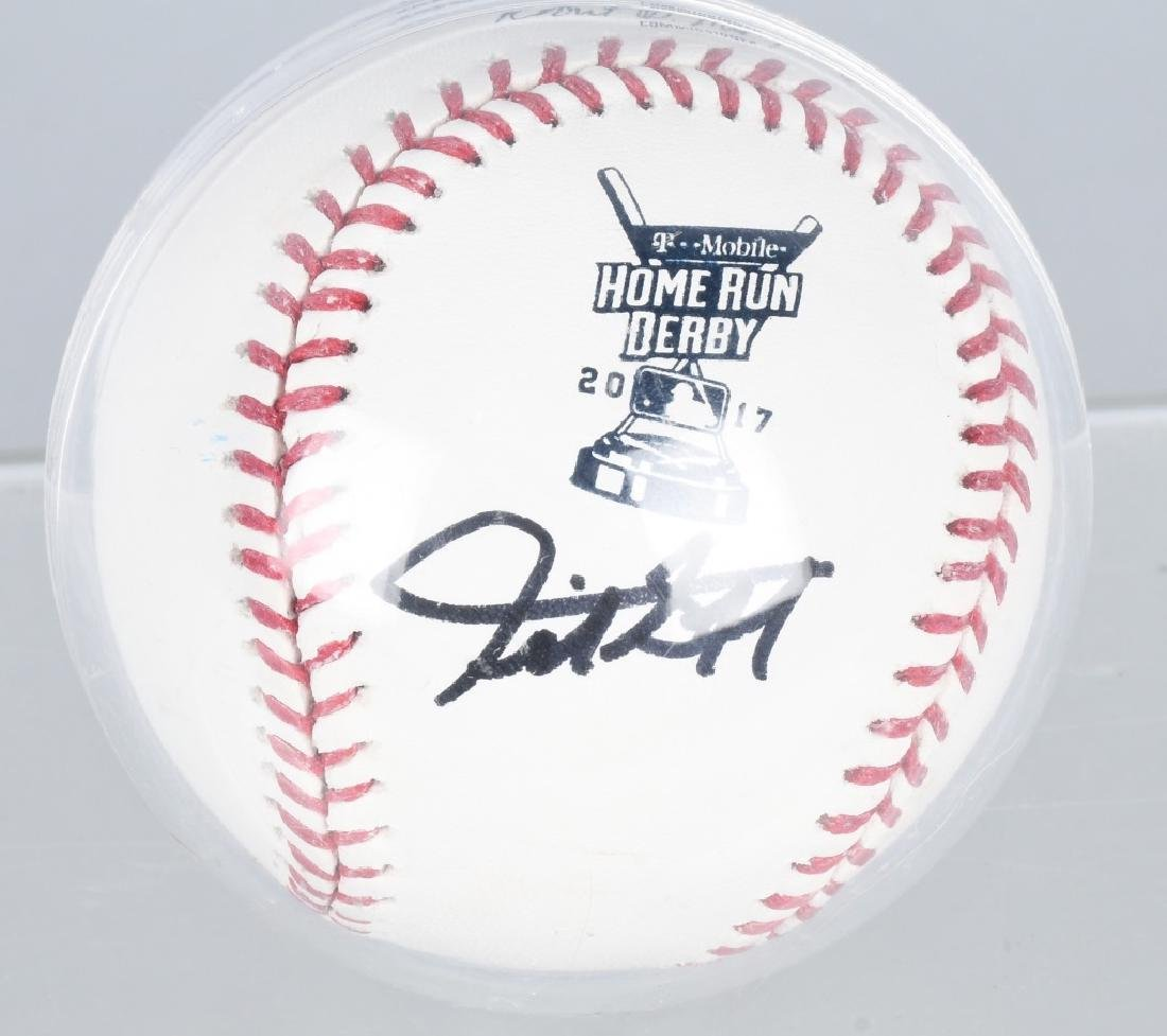 GIANCARLO STANTON AUTOGRAPHED HR DERBY BASEBALL - 2