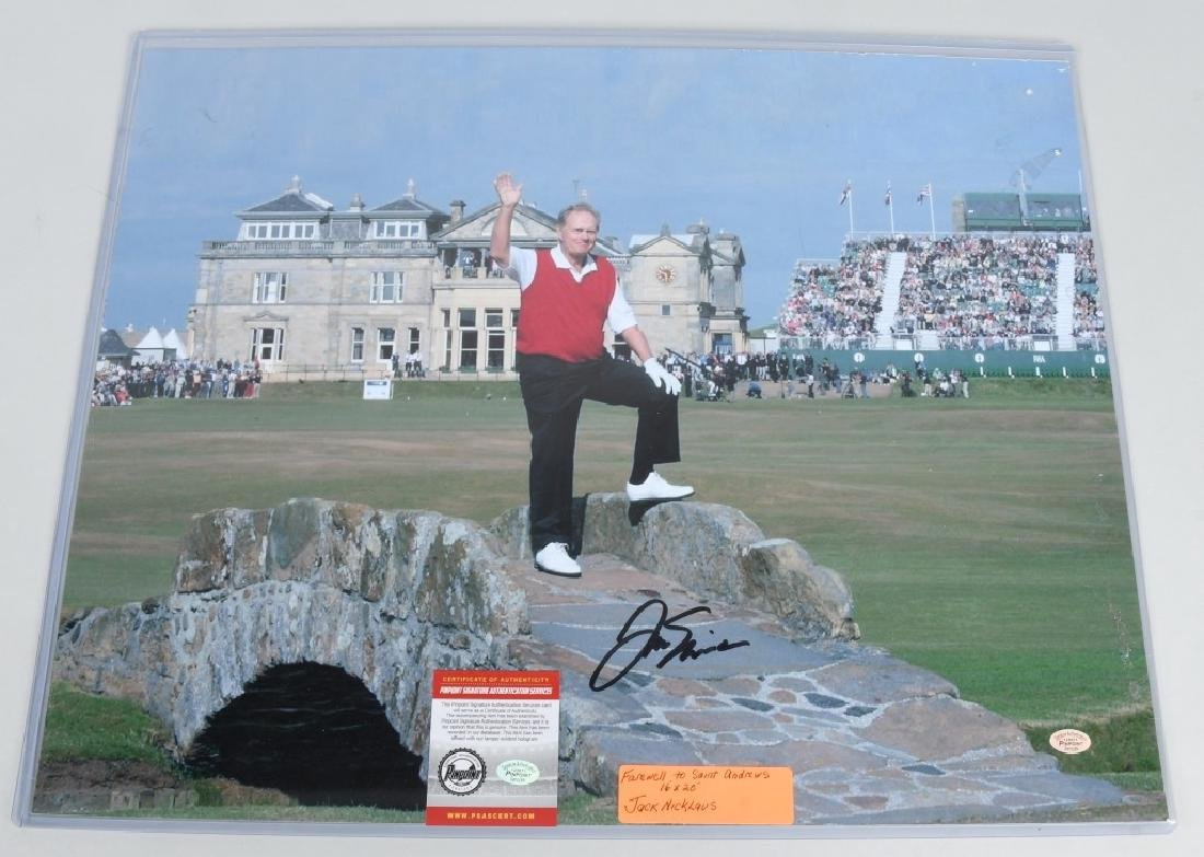 "JACK NICKLAUS AUTOGRAPHED 20""X16"" PICTURE"