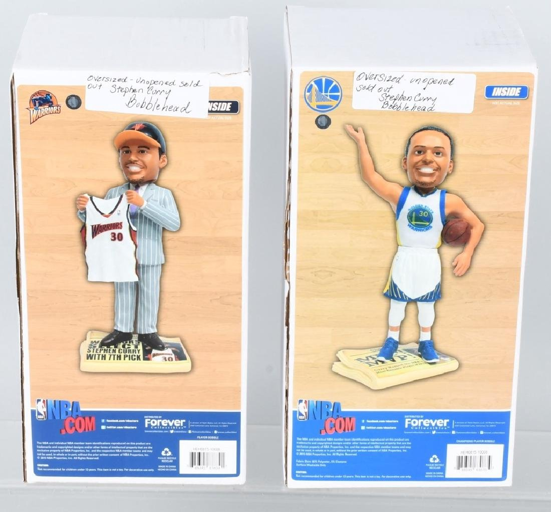 2- STEPHEN CURRY OVERSIZED BOBBLE HEADS MIB