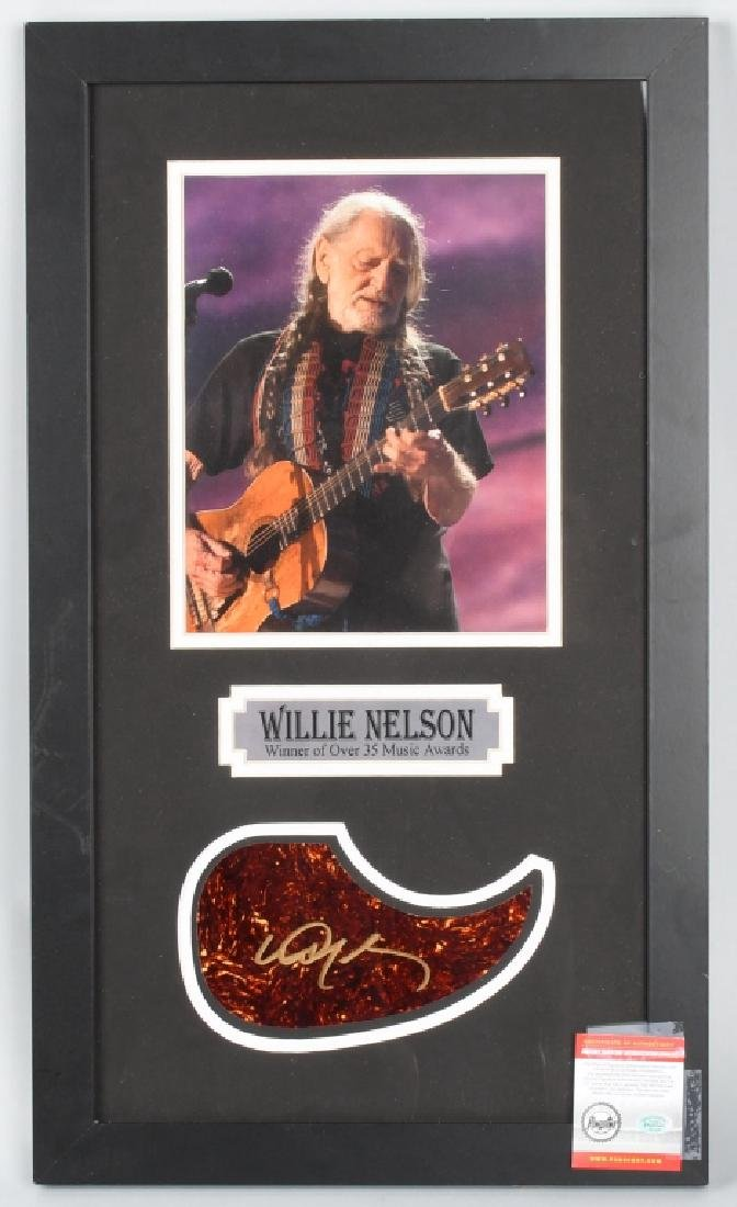 "WILLIE NELSON 24""X14"" FRAMED AUTOGRPHED"