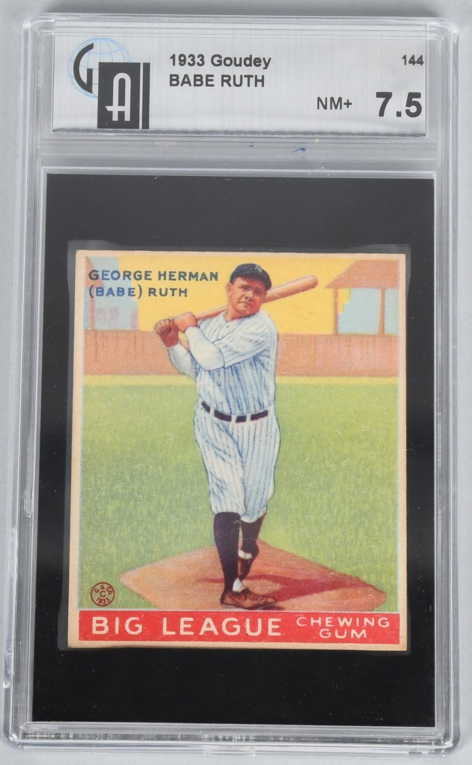 BABE RUTH 1933 GOUDEY BASEBALL CARD #144