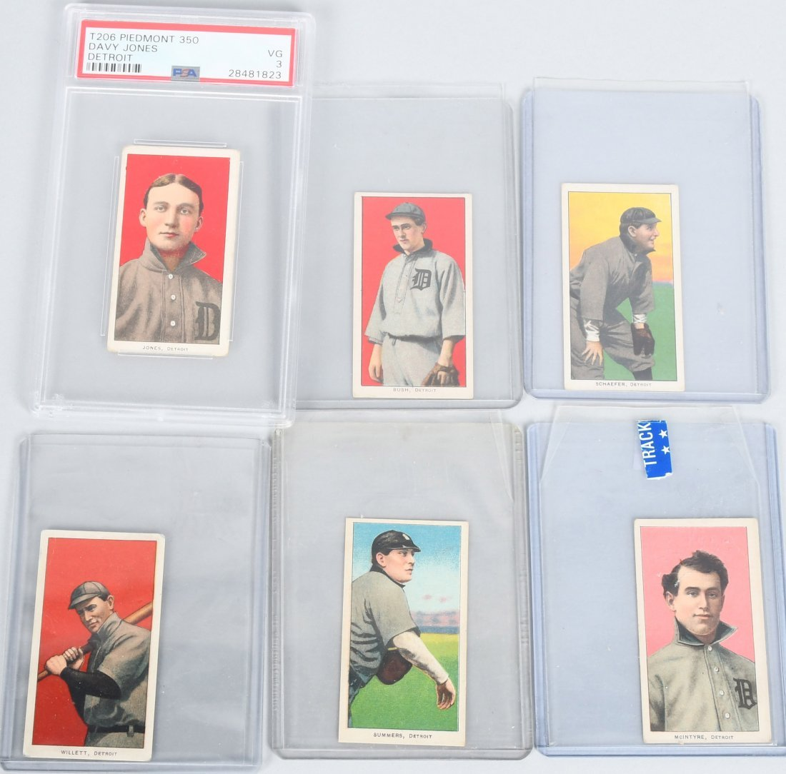 6- 1909-1911 T206 CIGARETTE BASEBALL CARDS