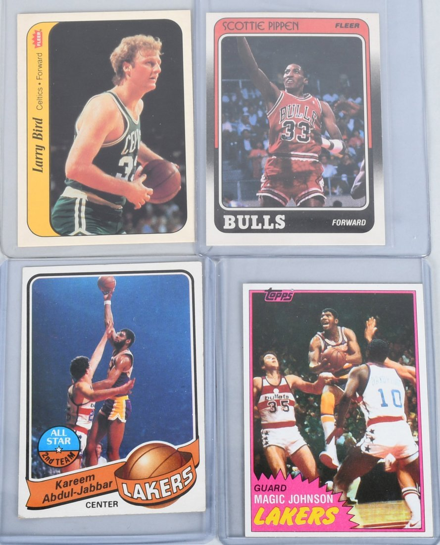 BASKETBALL CARDS BIRD, JOHNSON, KAREEM, & MORE
