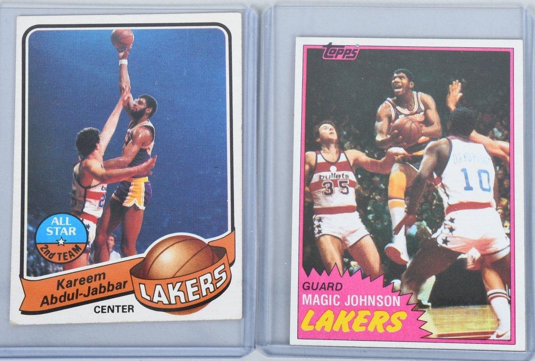BASKETBALL CARDS BIRD, JOHNSON, KAREEM, & MORE - 4