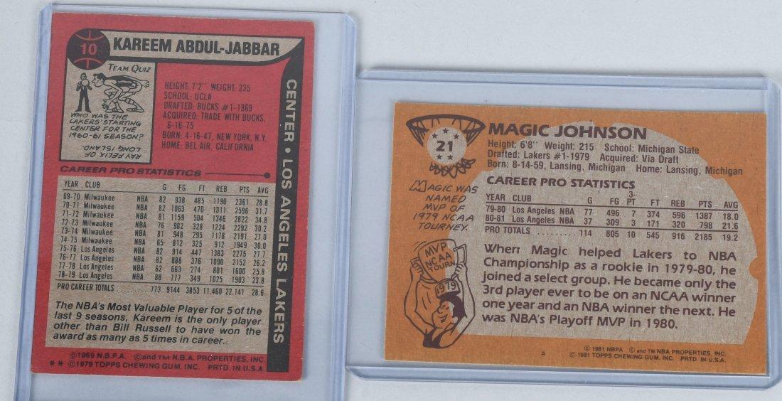 BASKETBALL CARDS BIRD, JOHNSON, KAREEM, & MORE - 5