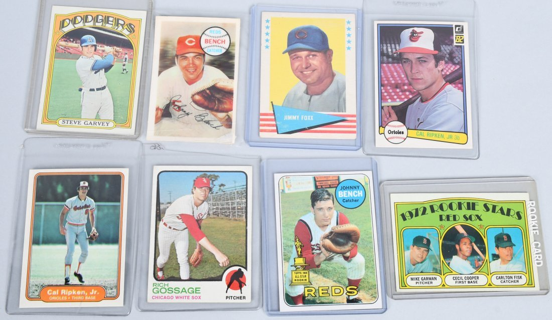 8-BASEBALL CARDS GARVEY, BENCH ROOKIES, & MORE