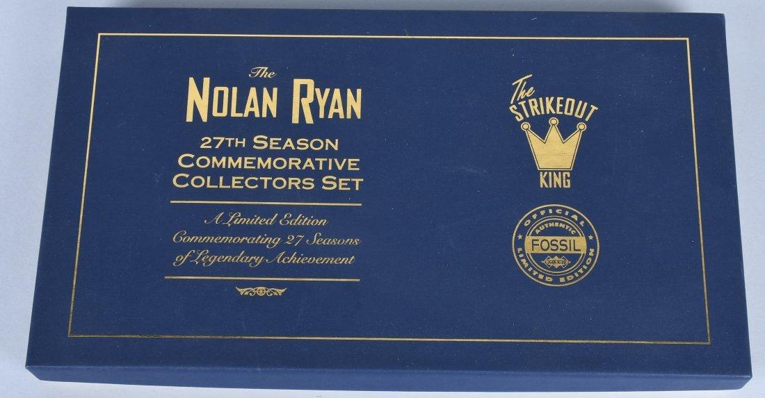 FOSSIL NOLAN RYAN WATCH w/ SIGNED BASEBALL CARD - 5