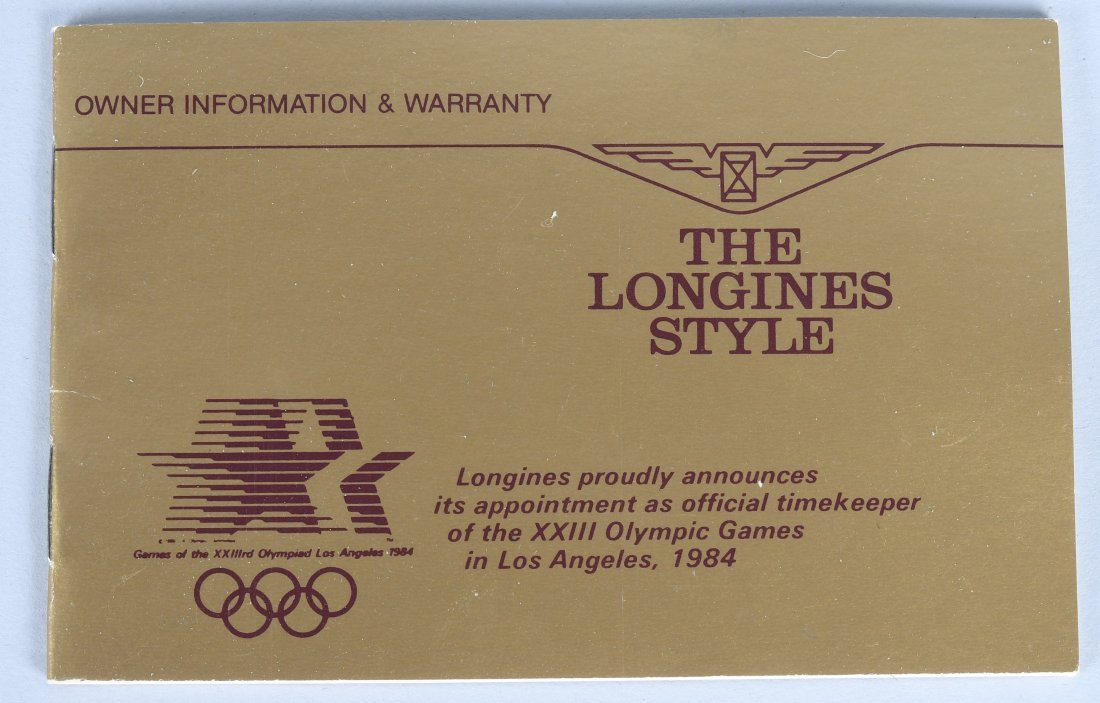 LONGINES 1984 OLYMPIC 14k GOLD POCKET WATCH MIB - 8