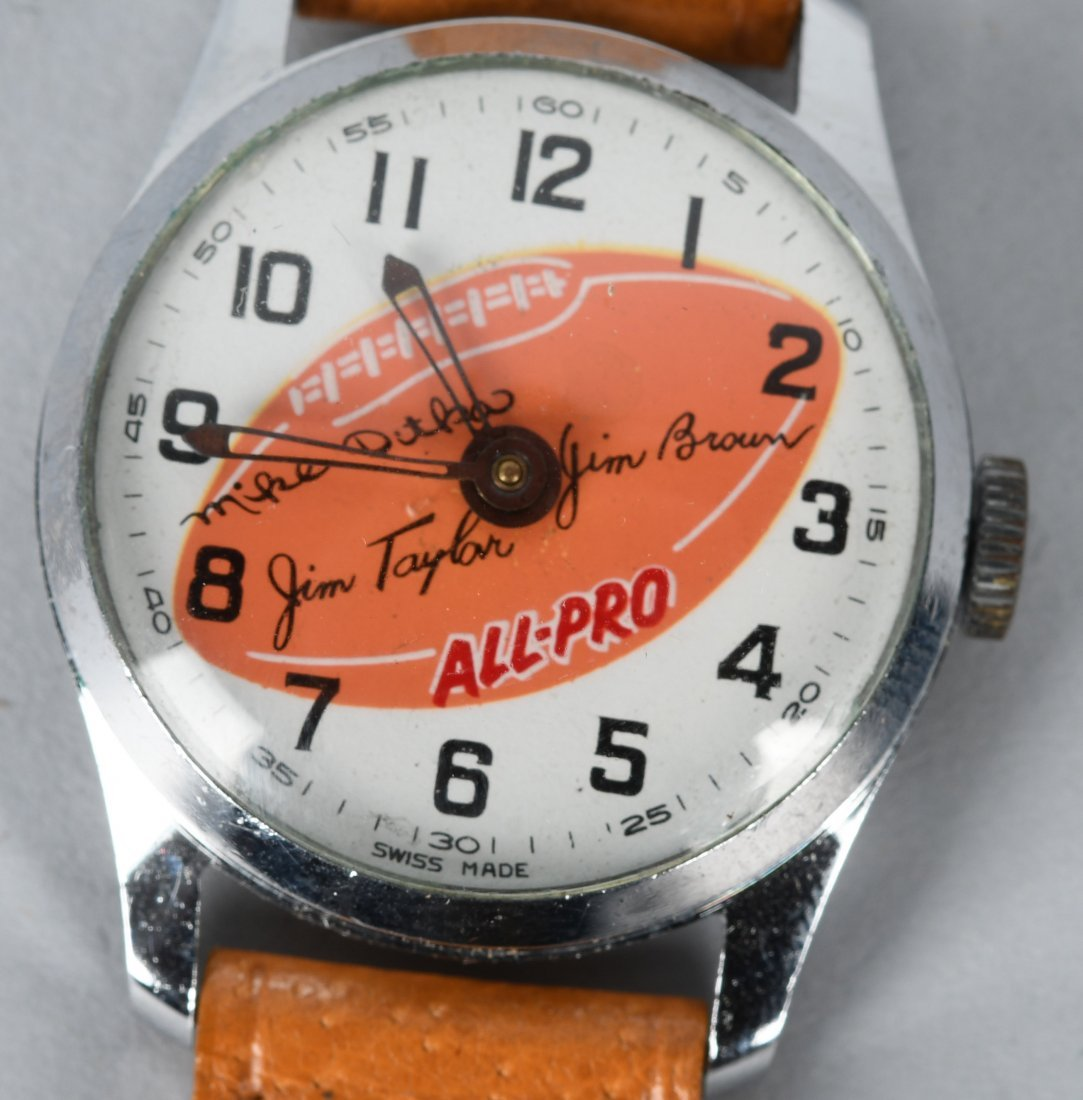 1960s ALL PRO FOOTBALL WATCH JIM BROWN