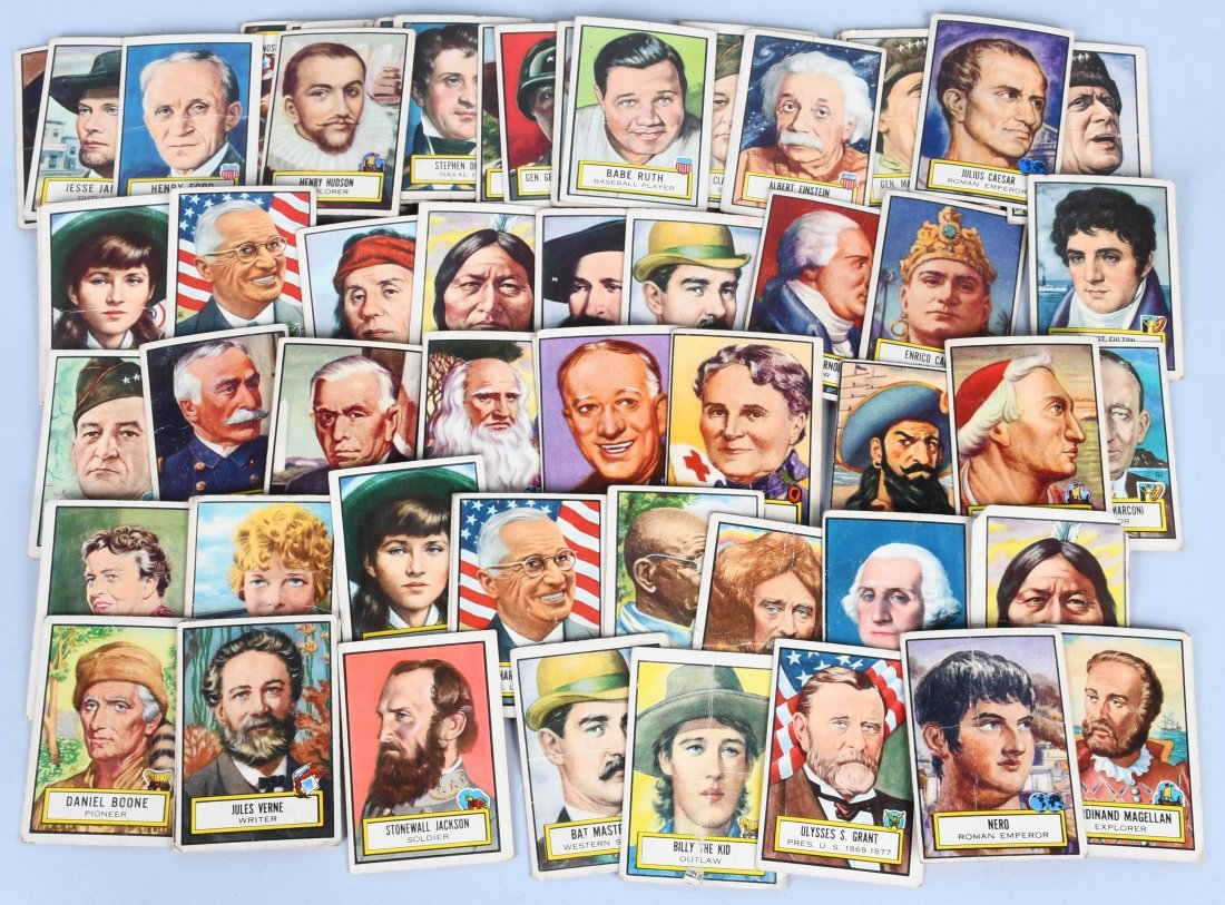 64- 1952 TOPPS LOOK N\' SEE CARDS