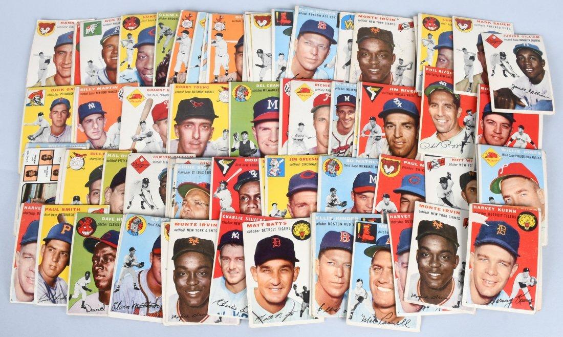 75+ 1954 TOPPS BASEBALL CARDS