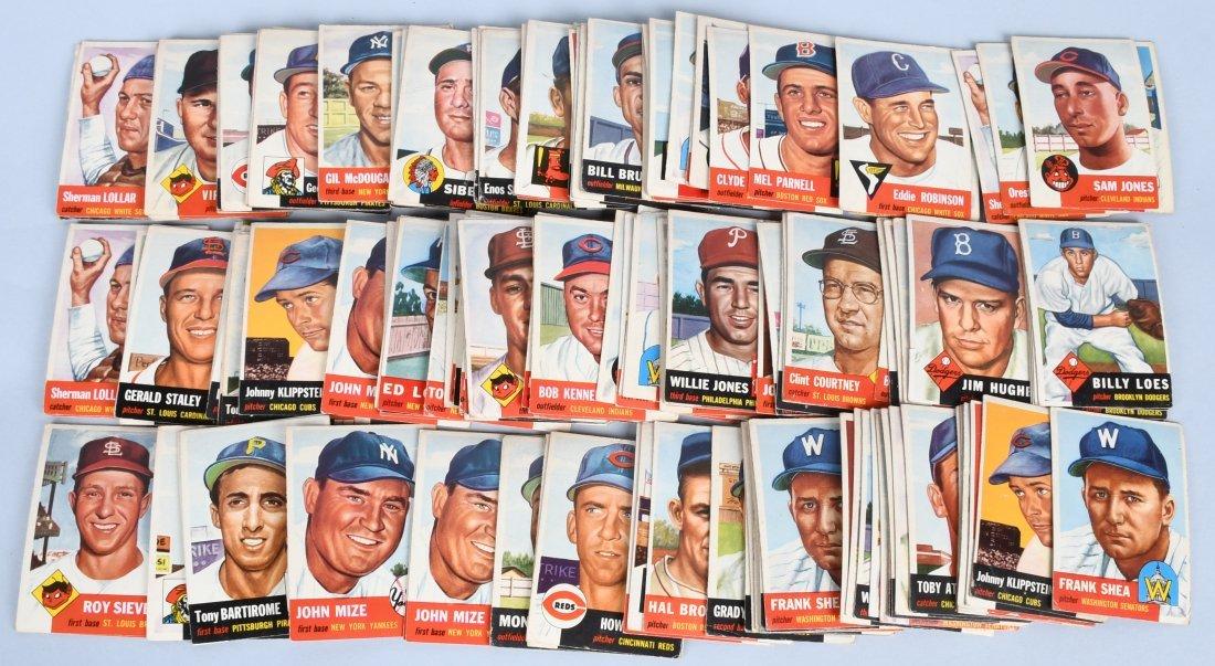150+ 1953 TOPPS BASEBALL CARDS