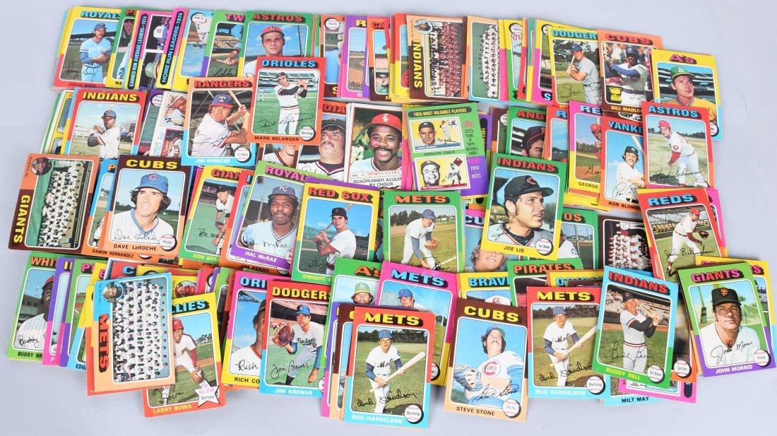 250+ 1975 TOPPS BASEBALL CARDS