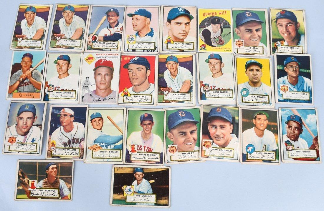 25- 1950s BASEBALL CARDS