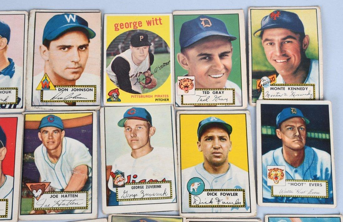 25- 1950s BASEBALL CARDS - 3