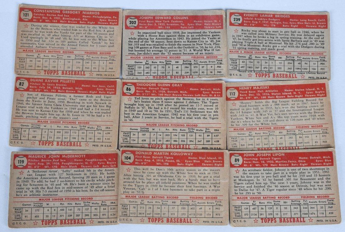 25- 1950s BASEBALL CARDS - 6