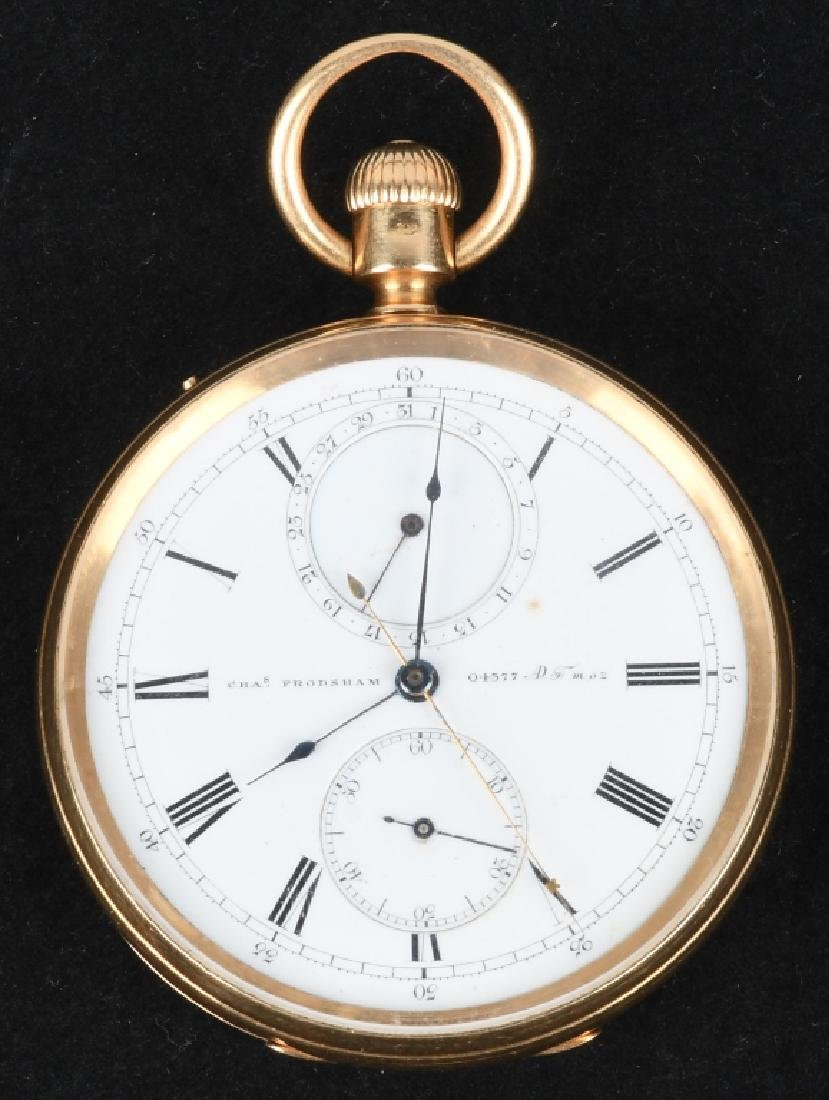 CHARLES FRODSHAM 18K GOLD POCKET WATCH