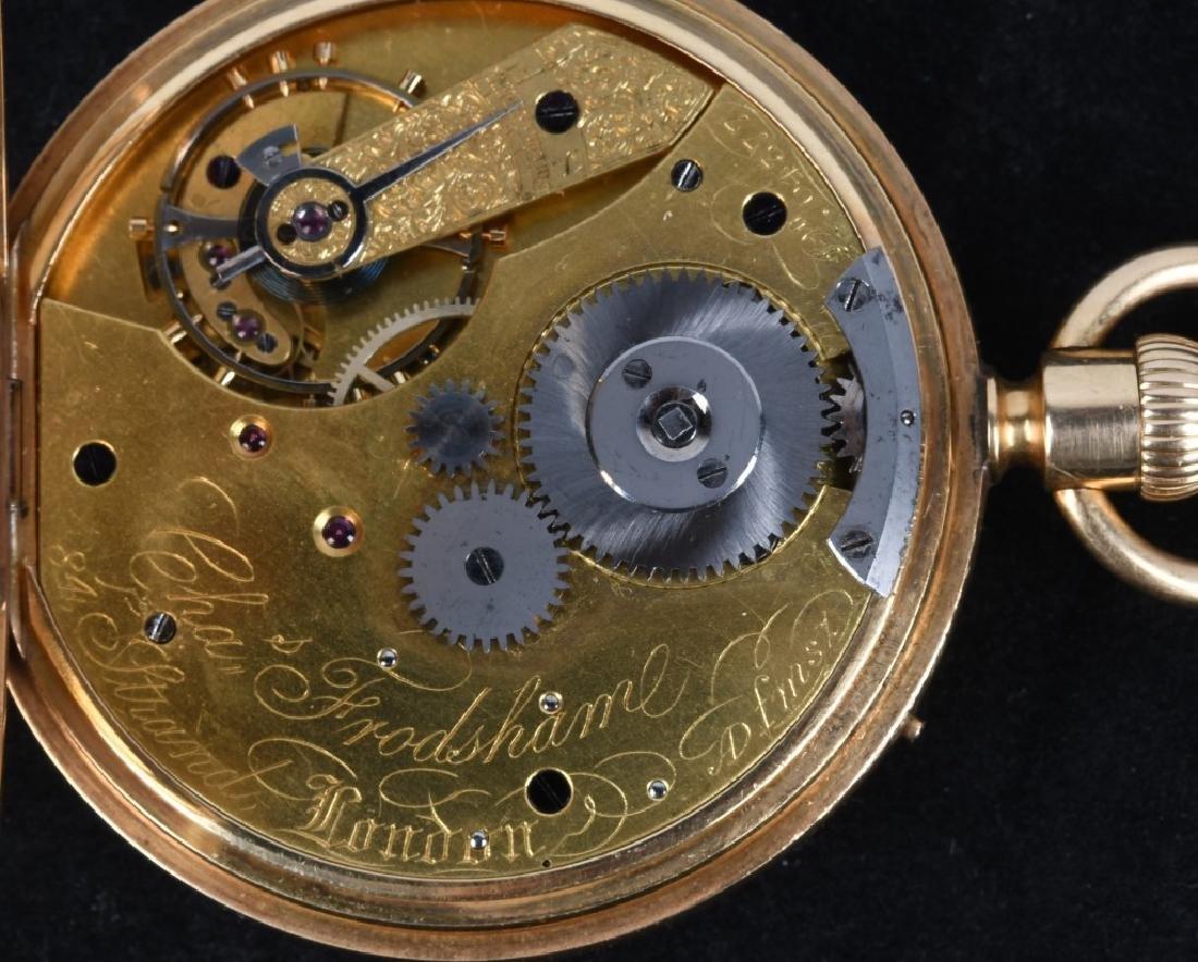 CHARLES FRODSHAM 18K GOLD POCKET WATCH - 6