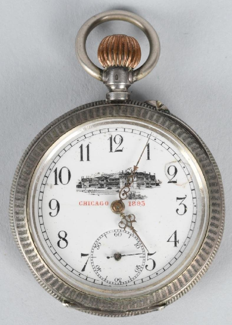 CHICAGO COLUMBIAN EXPOSITION SILVER POCKET WATCH