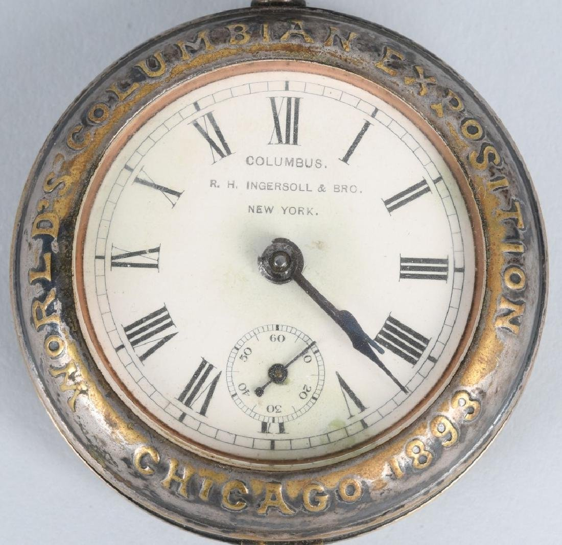 CHICAGO COLUMBIAN EXPOSITION POCKET WATCH - 2