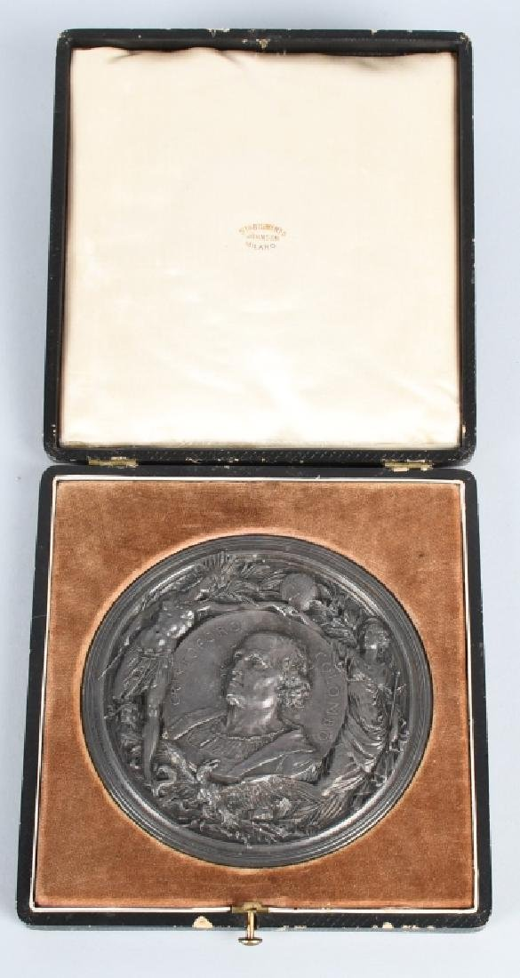 1892-93 WORLD'S COLUMBIAN EXPOSITION 102mm MEDAL