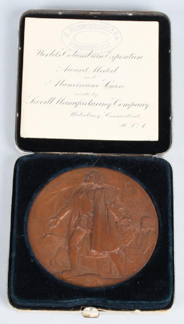 1893 COLUMBIAN EXPOSITION AWARD MEDAL