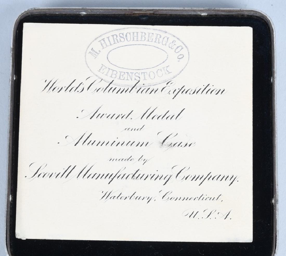 1893 COLUMBIAN EXPOSITION AWARD MEDAL - 3