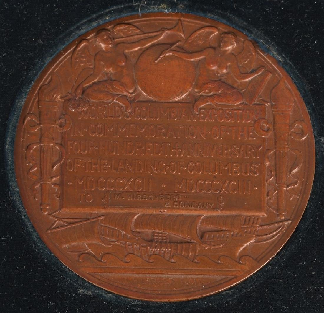 1893 COLUMBIAN EXPOSITION AWARD MEDAL - 4