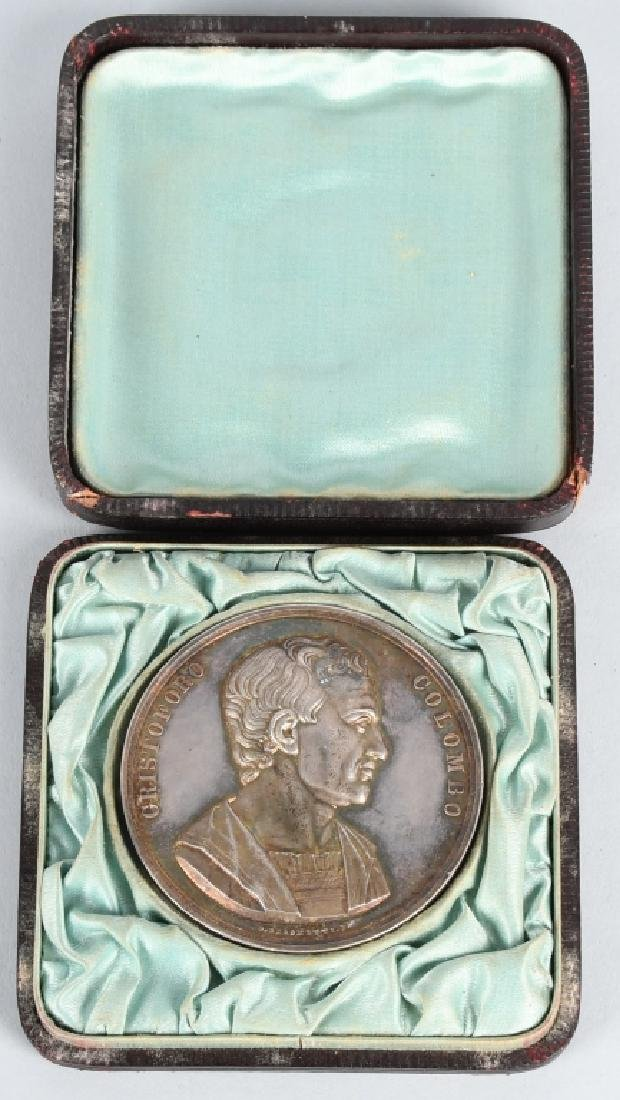 1892 COLUMBIAN EXPOSITION SILVER MEDAL w/ CASE