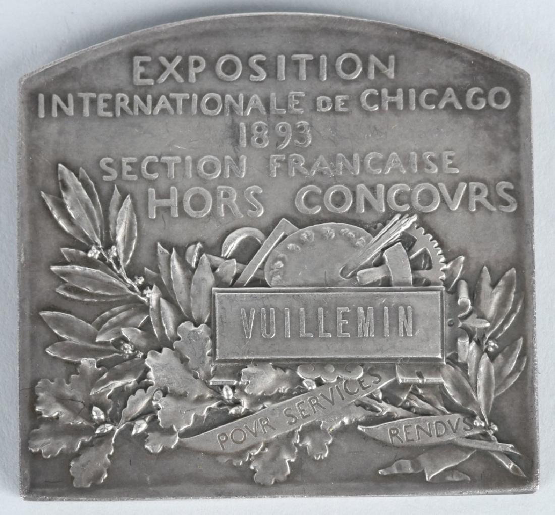 CHICAGO COLUMBIAN EXPOSITION EXHIBITOR'S MEDAL - 2