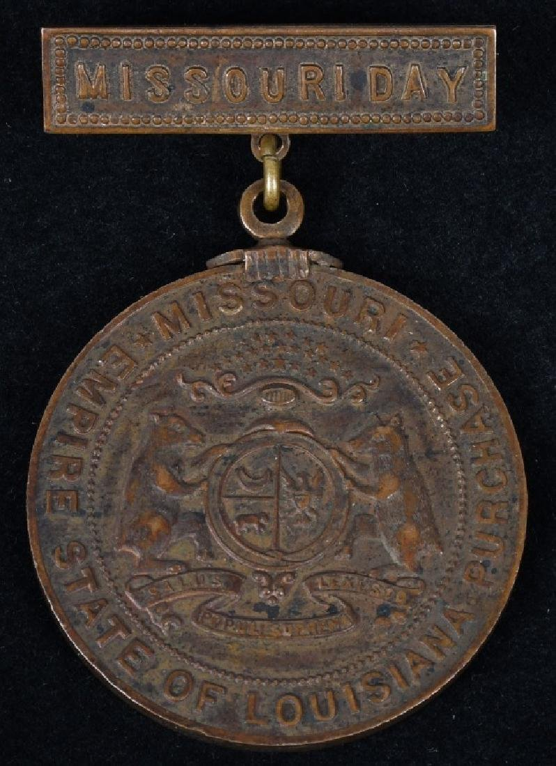 1904 ST. LOUIS WORLD'S FAIR MISSOURI DAY MEDAL