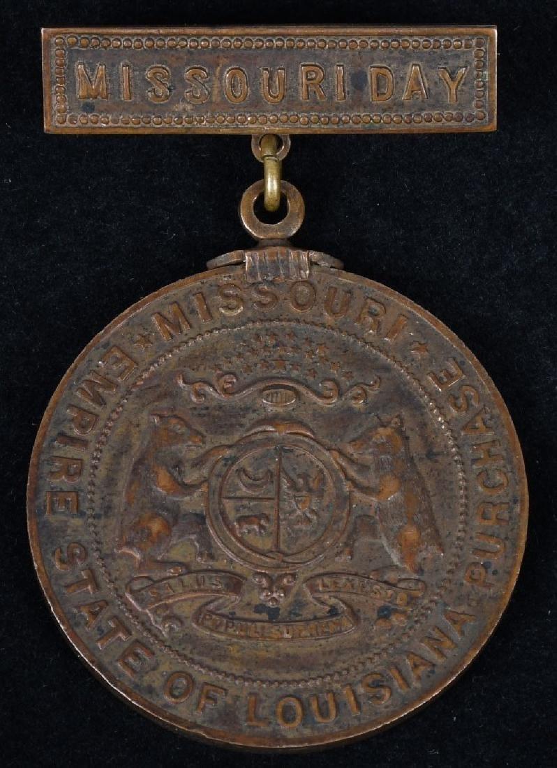 1904 ST. LOUIS WORLD'S FAIR MISSOURI DAY MEDAL