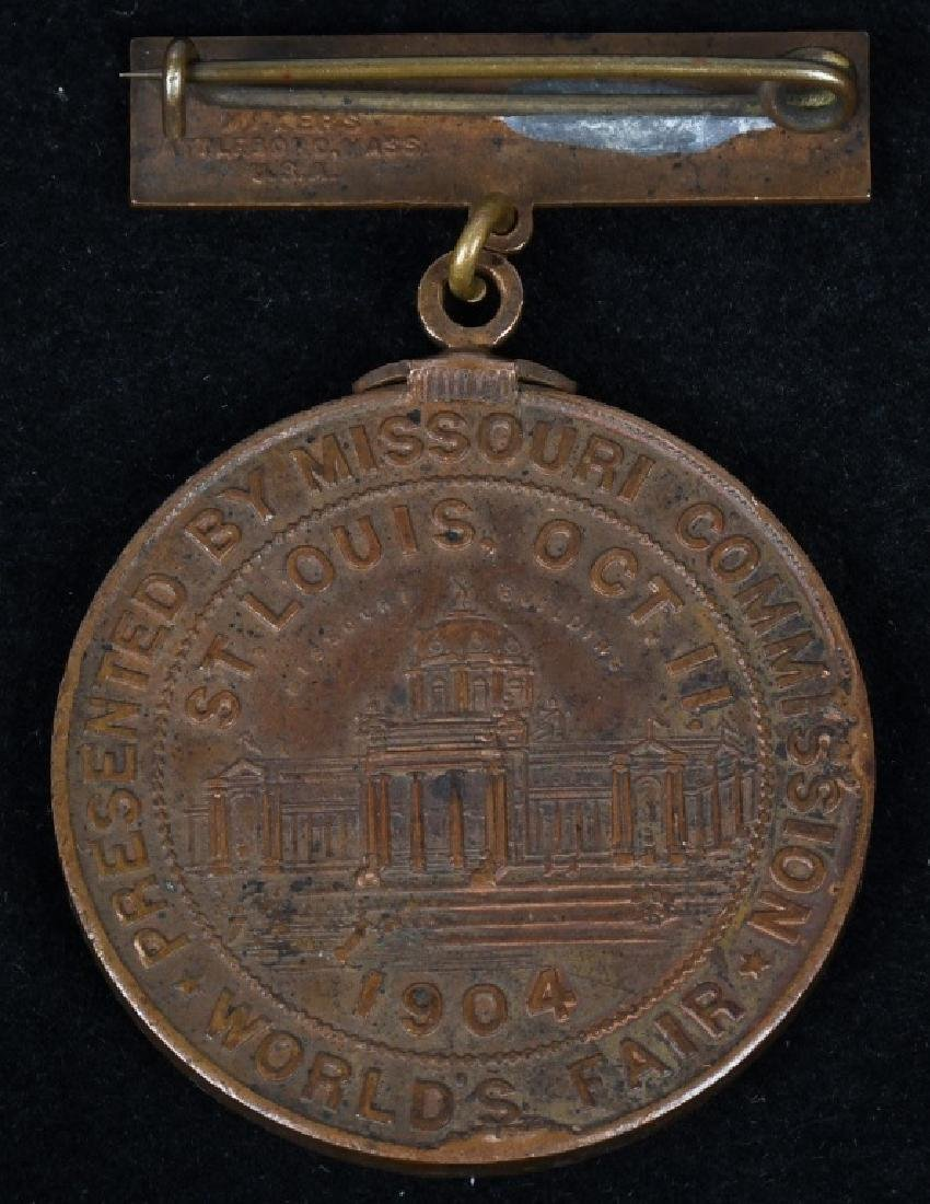 1904 ST. LOUIS WORLD'S FAIR MISSOURI DAY MEDAL - 2