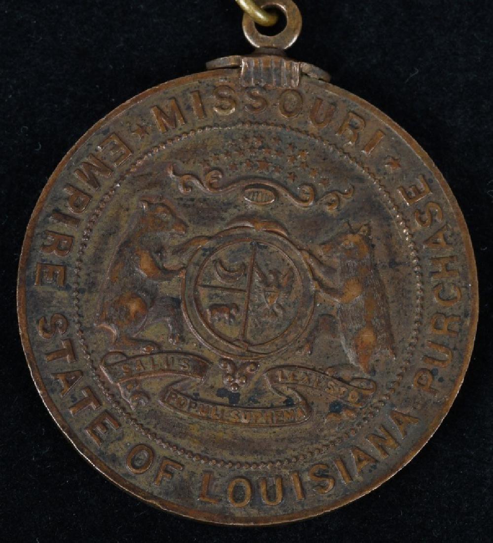 1904 ST. LOUIS WORLD'S FAIR MISSOURI DAY MEDAL - 3