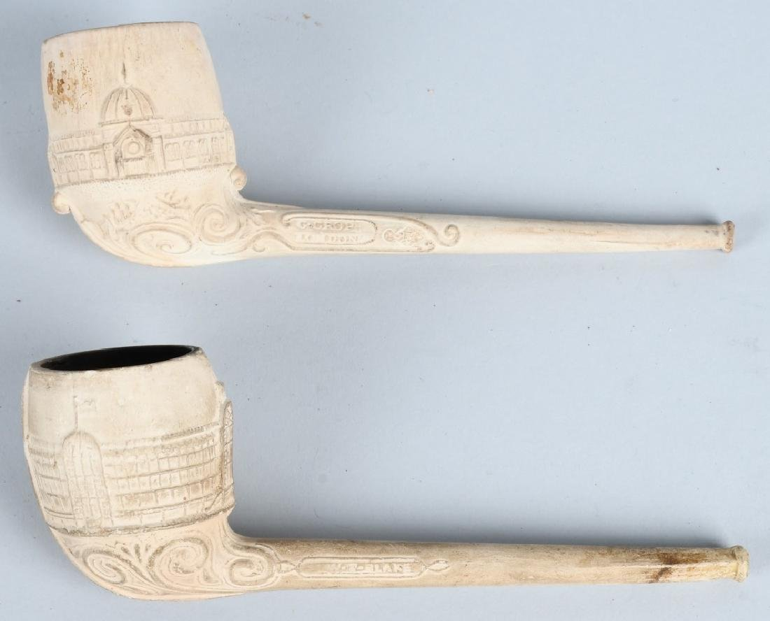 2- COLUMBIAN EXPOSITION CLAY PIPES