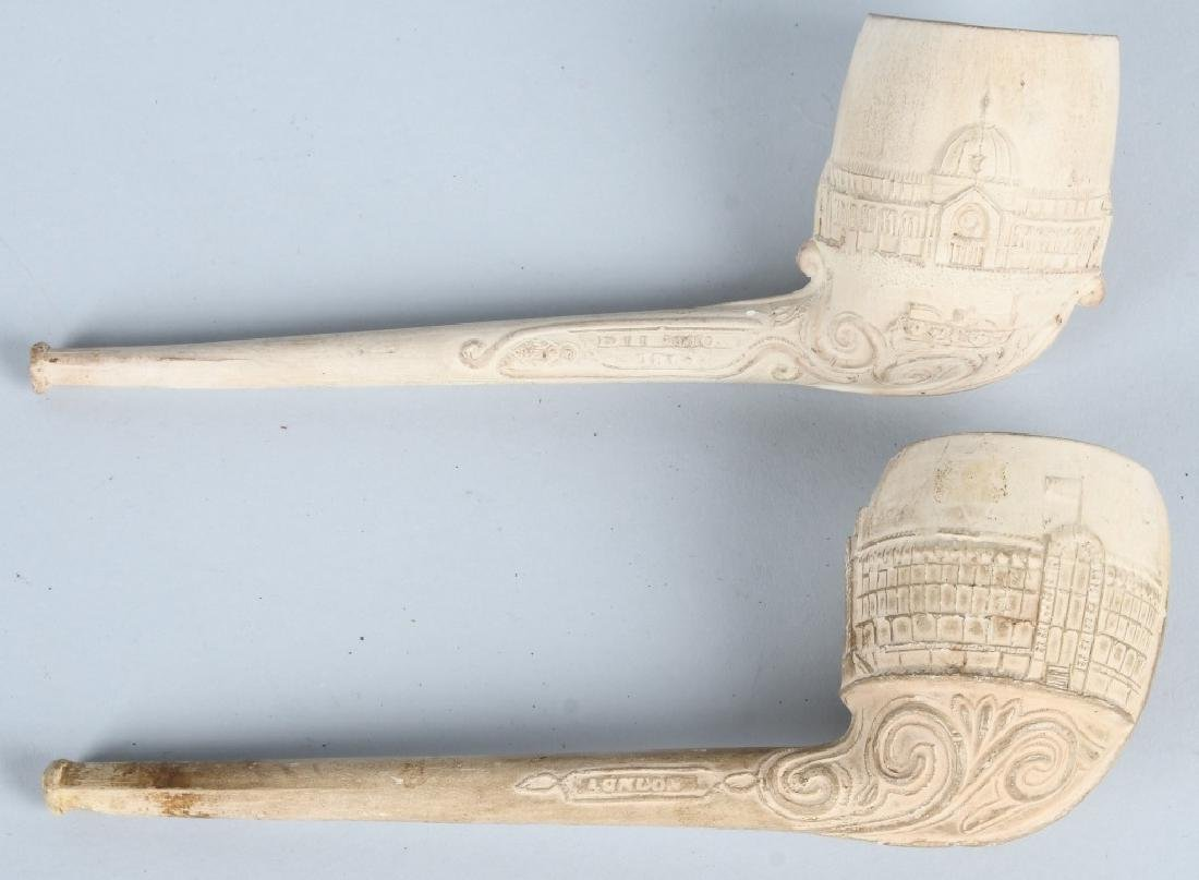 2- COLUMBIAN EXPOSITION CLAY PIPES - 2