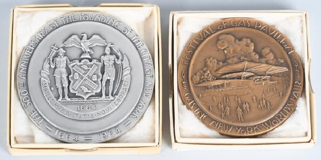 2- 1964 NEW YORK WORLDS FAIR MEDALS