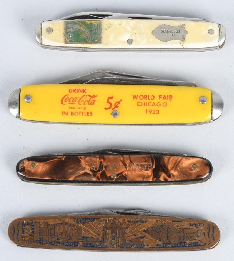 4- 1933 CHICAGO WORLDS FAIR KNIVES