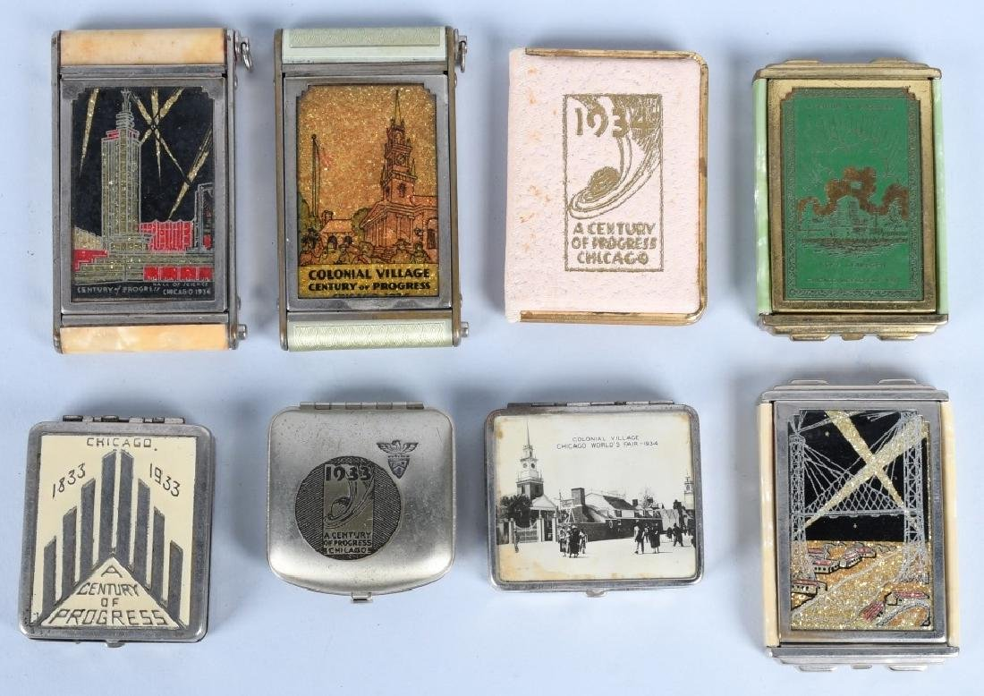 8- 1933 CHICAGO WORLDS FAIR COMPACTS