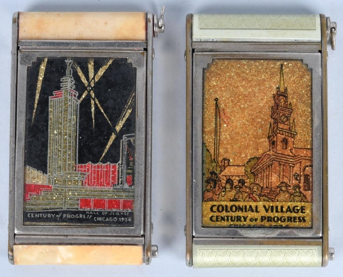 8- 1933 CHICAGO WORLDS FAIR COMPACTS - 2