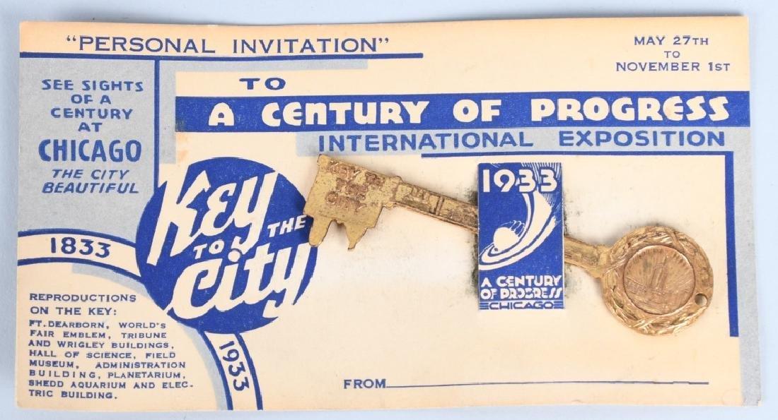 5- 1933 CHICAGO WORLDS FAIR SOUVENIRS - 2