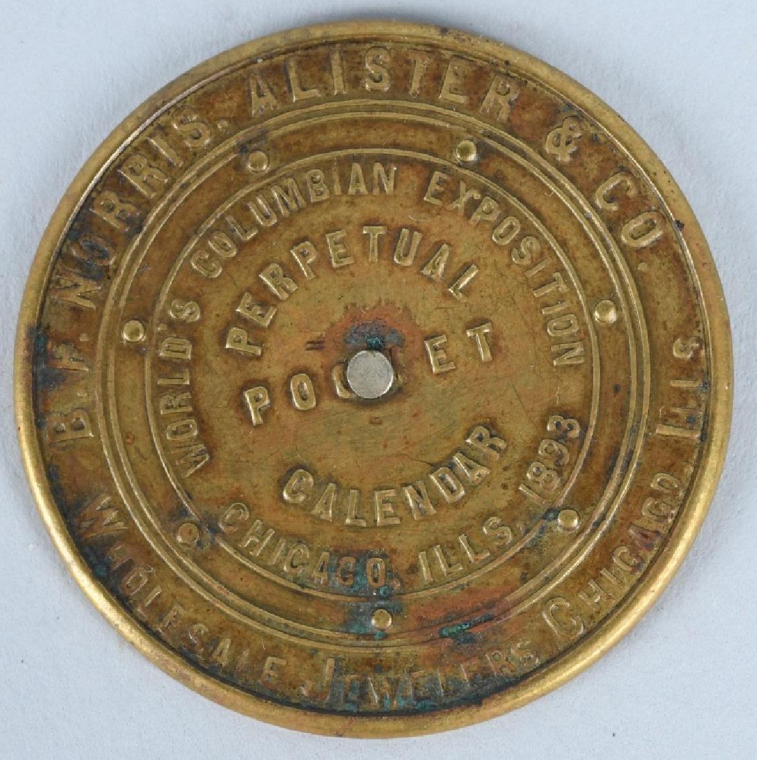 1893 COLUMBIAN EXPOSITION PERPETUAL CALENDAR
