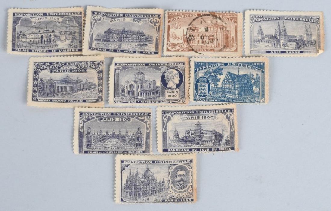 10- 1900 PARIS EXPOSITION STAMPS