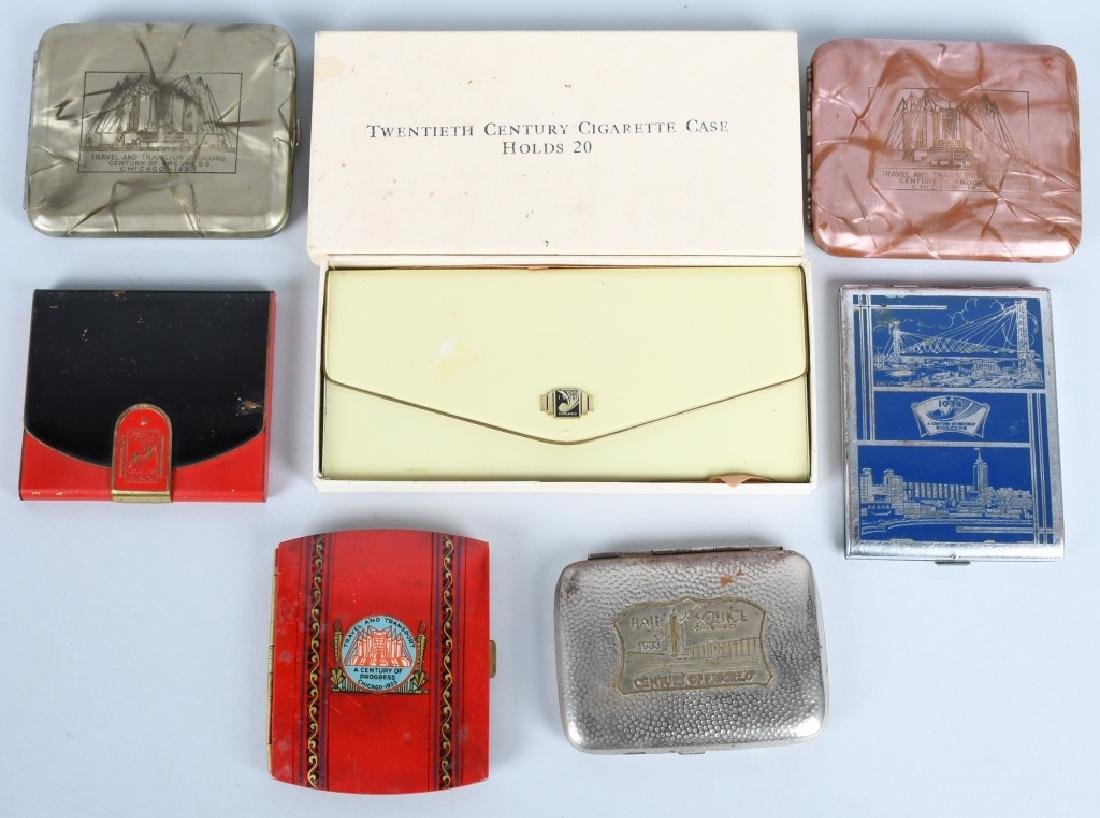 7- 1933 CHICAGO WORLDS FAIR CIGARETTE CASES