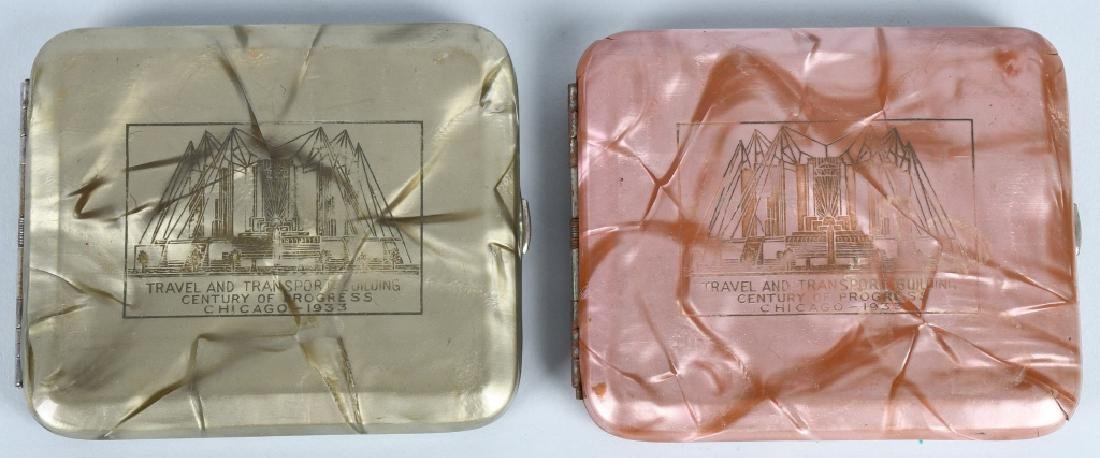7- 1933 CHICAGO WORLDS FAIR CIGARETTE CASES - 3
